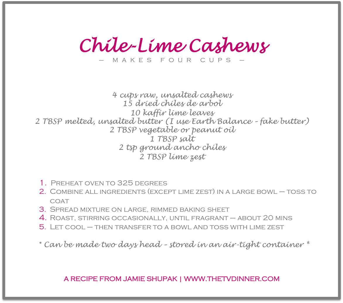 RECIPE chile-lime cashews