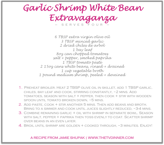 RECIPE garlic shrimp extravaganza